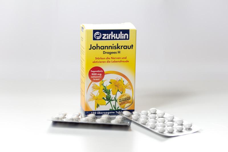 Johanniskraut als Tabletten